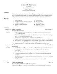 office manager resume template word best example billing