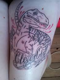 jurassic park tattoo clever