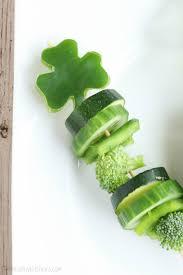 Shamrock Green Shamrock Veggie Skewers Two Healthy Kitchens