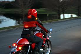 light bike jacket impulse jackets put your signal lights up where drivers can see them