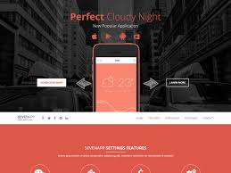 sevenapp free bootstrap mobile app landing page