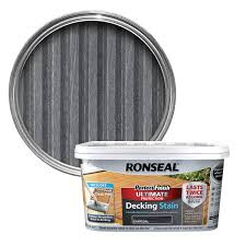 Longest Lasting Cedar Deck Stain by Ronseal Perfect Finish Charcoal Decking Stain 2 5l Departments