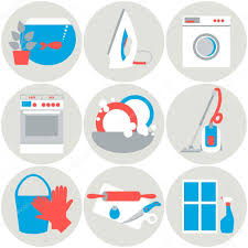 house work icons vector illustration flat design u2014 stock vector