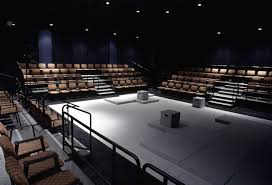 home theater stage flexible seating riser theater spaces pinterest architecture