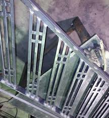 interior stair rails stair section custom made metal fabrication