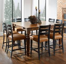 custom dining room tables champlain custom dining customizable square counter table set by