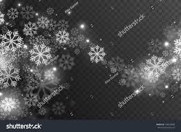 vector magic falling snow effect white stock vector 746524588