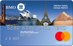 prepaid credit card prepaid travel mastercard secured credit card bmo