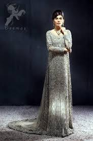 light gray long dress light fawn grayish back trail maxi for reception brides