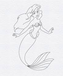 how to draw ariel the little mermaid doodleberry patch