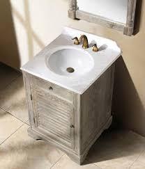 Bathroom Wood Vanities Top Homethangs Has Introduced A Guide To Aged Wood Bathroom Vanities Pertaining To Weathered Wood Bathroom Vanity Remodel Jpg