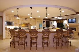 Kitchen Island Lights by Remarkable Kitchen Decor Ideas Offer Plentiful Wooden Cabinets