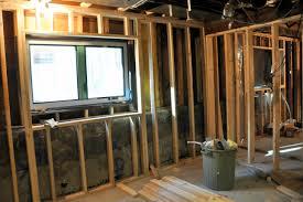 framing a window framing basement walls against concrete u2014 new basement and tile