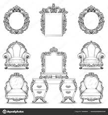 rich baroque rococo armchair and dressing table set luxury
