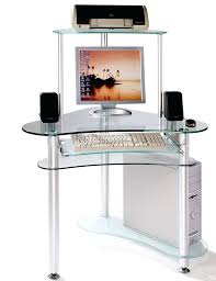 Glass Corner Computer Desks For Home Small Glass Computer Desk U2013 Modelthreeenergy Com