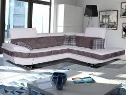 canapé d angle bi matière canapé d angle 5 places en microfibre ref 32633 meubles cavagna
