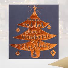 copper foil mum and dad wonderful large christmas card caroline