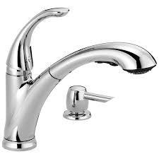 16736 sd dst single handle pull out kitchen faucet with soap download high resolution image