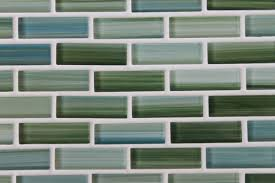 decorating inspiring hand painted glass mosaic subway tiles for