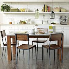 Rustic Kitchen Rectangular Dining Table West Elm - West elm dining room chairs