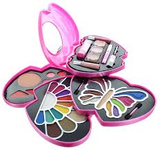 Color Pink by Amazon Com Eta Pink Double Heart Glamour Makeup Color Kit