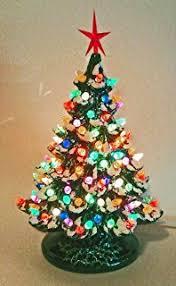 ceramic christmas tree light kit amazon com 1 holiday living pre lit tree with white led lights