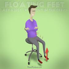 Desk Chair Workout Floating Feet Abs And Legs Workout In The Office