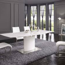 White Gloss Dining Tables And Chairs Modern Dining Room Furniture Interior Design