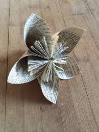 Book Paper Folding - sew many ways book page flower tutorial