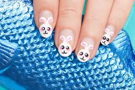 cute bunny stole my egg u0027 easter nails