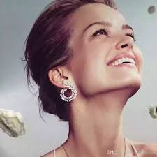 diamond stud earrings on sale 2018 luxury ear cuff earrings for women marquise cz diamond formed