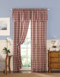 london plaid casual curtain panel curtainworks com