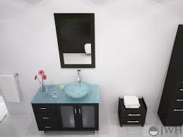green glass vessel bathroom sinks 39 lune vanity with green glass top and bowl espresso