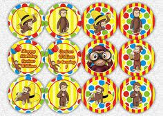 curious george cupcakes curious george cupcake toppers look at me i am 3 birthday