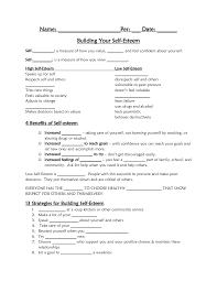 Ptsd Worksheets Self Esteem Worksheets For Children