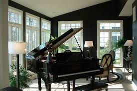 home design forum black painted rooms home decorating design forum grand piano