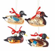 buy pack of 8 multi color duck with ribbon glass figure
