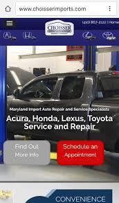 lexus service annapolis choisser import auto services advantage internet marketing