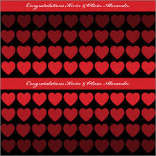 personalized wrapping paper hearts black personalized wrapping paper pricing options