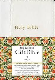 gift bibles nrsv the catholic gift bible white imitation leather