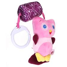 baby infant plush animal stroller music hanging doll rattles bell