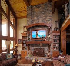 luxury great room with fireplace interior home security is like