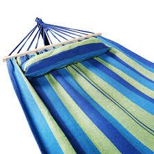 holifine blue green stripe outdoor hammock without stand holifine