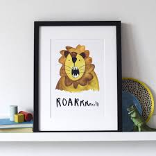 roarrrr lion u0027 print by letterbox lane notonthehighstreet com
