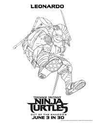 new tmnt coloring pages getcoloringpages com