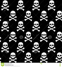 halloween background skulls black and white pattern with skulls and bones stock vector image