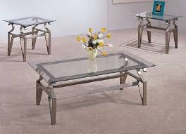 glass coffee and end tables amazon com 3 piece coffee table set glass tops coffee table and