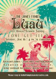 luau invitations vintage chic luau custom summer party invitation invite by