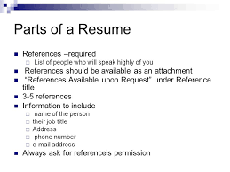 Resume With References Available Upon Request How To Write A Resume Ppt Video Online Download