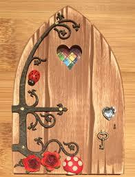 Fairy Door by Oaktree Fairies The Welsh Fairy Door Company Oak Brown Fairy